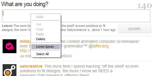 Note the new highlighted option in the context menu