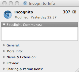 New Incognito icon