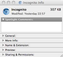 New Incognito icon